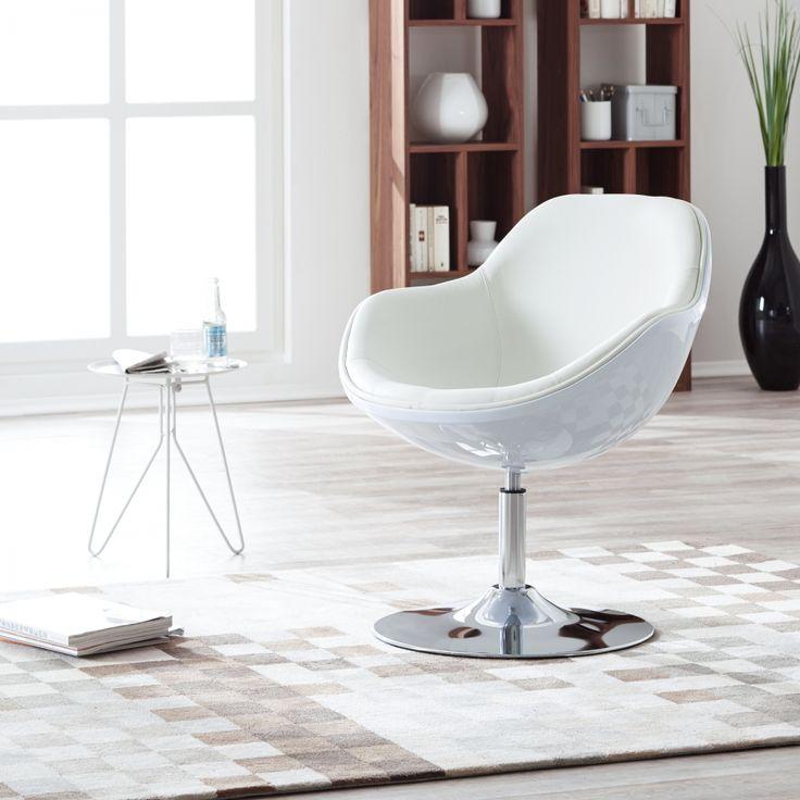 Draaistoel Cartago - wit kunstleer 360 graden - Kunstleer Veli Wit II