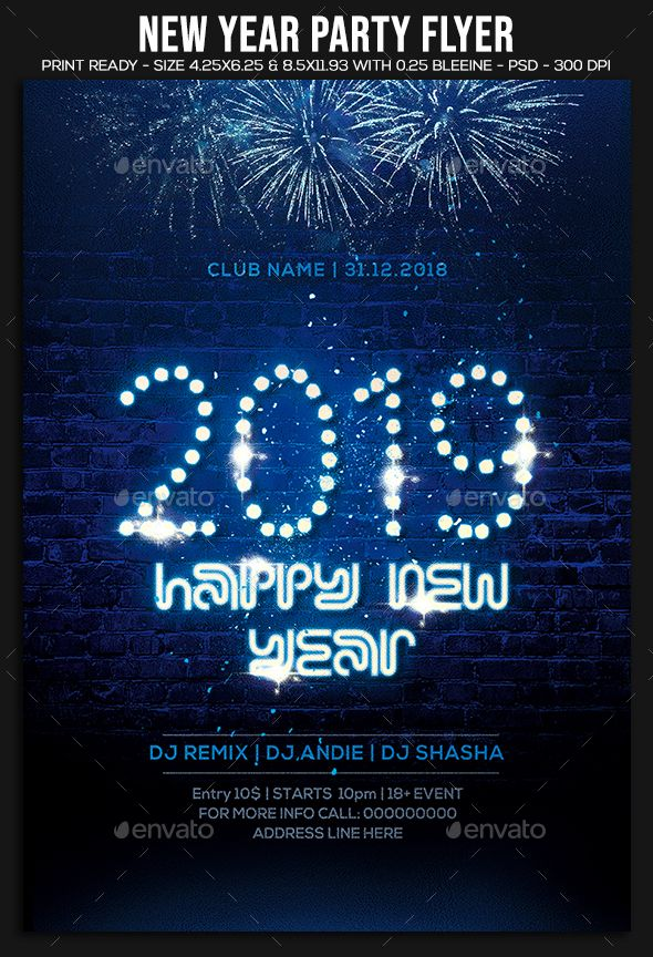 new year party flyer clubs parties events new year party flyer