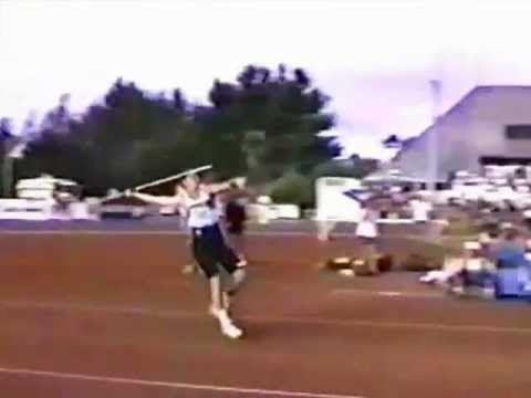 Steve Backley's 91.46m javelin throw world record