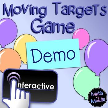 Looking for a fun, no-prep review game to play with your math class?  This unique moving targets game is sure to be a hit with your students!*** This game is an html file that works on BOTH PCs and MACs!  ***   (Tested in the following browsers: Google Chrome, Safari, Firefox, Opera, and Internet Explorer 9 and up.)This demo game is meant to be an easy way for you to try out my moving targets games for free to ensure that they work on your computer.
