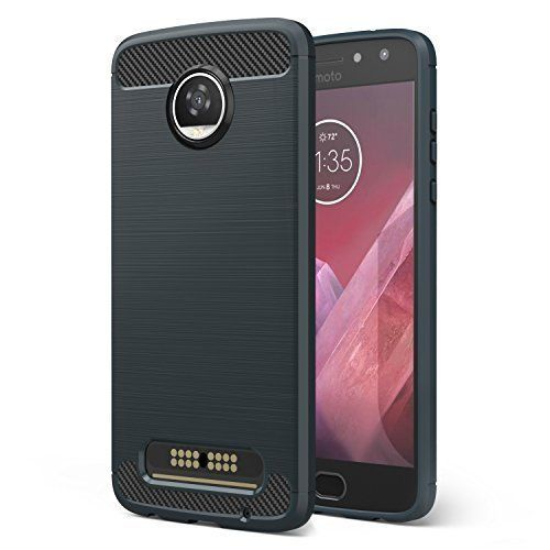 Moto Z2 Play Case Slim Lightweight Shockproof Carbon Fiber TPU Bumper Back Cover #MotoZ2PlayCase