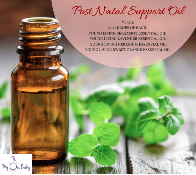 My Om Baby - Post Natal Support Essential Oil DIY   Explore the benefits of essential oil from conception through birth   Natural Mothering |  Essential Oil for Postnatal support