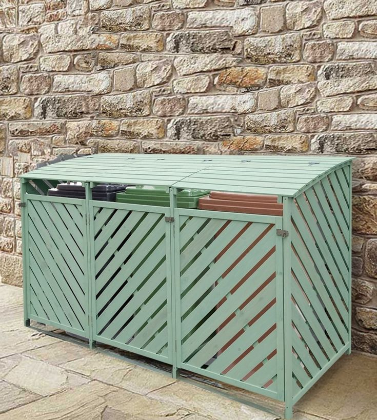 Triple plastic wheelie bin storage under top wash basin