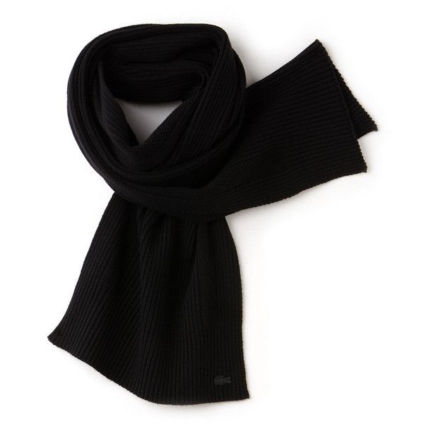 Lacoste Men's Cashmere And Wool Scarf ($66) ❤ liked on Polyvore featuring men's fashion, men's accessories, men's scarves, accessories, mens cashmere scarves, mens scarves, mens woolen scarves and mens wool scarves