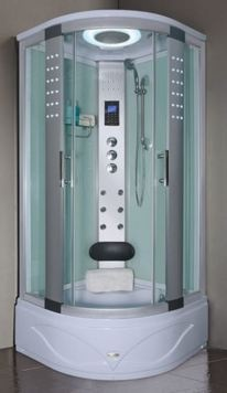 With a tub base that can double up as a small bath - great for young kids and adults too if you don't mind your knees up to the chin, this 1050mm x 1050mm quadrant model is the Aqualusso Orlando 1050 steam shower cabin - fabulous.