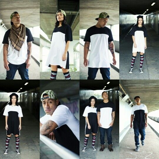 Fusion black and white tall tees