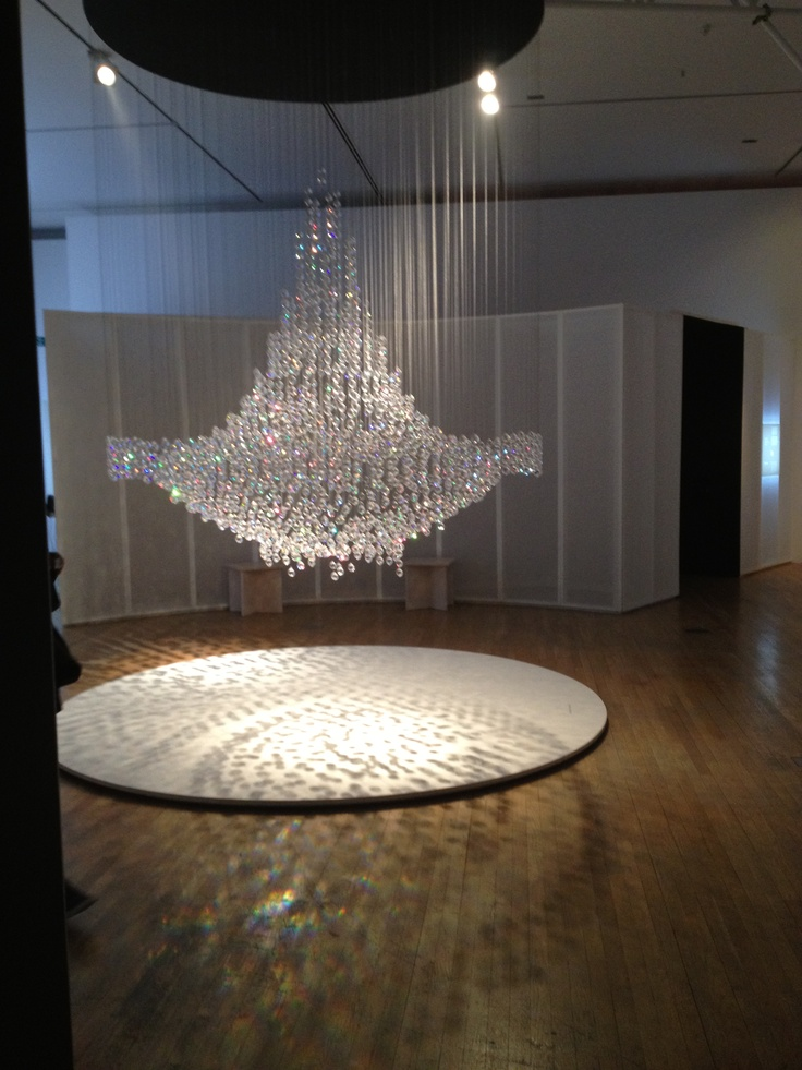 This was at the Swarovski exhibition that I seen and really liked the geometric circles and the way thy reflect on each other.