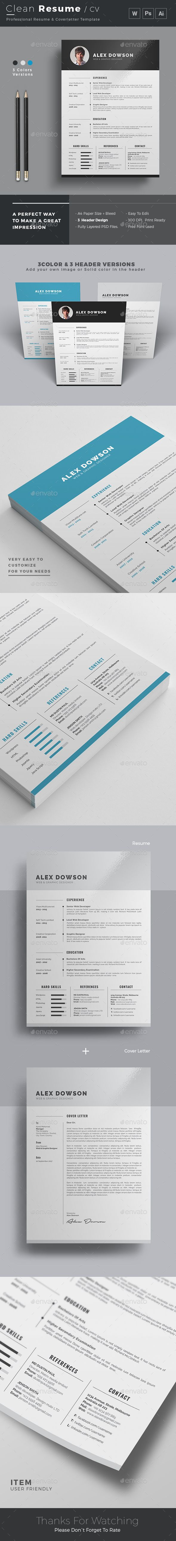 Resume Resumes StationeryDownload here httpgraphicrivernet 223