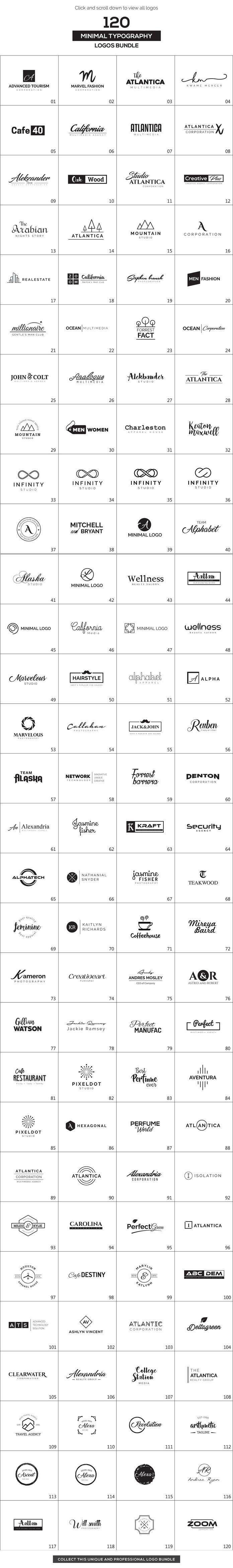 120 Minimal Typography Logos