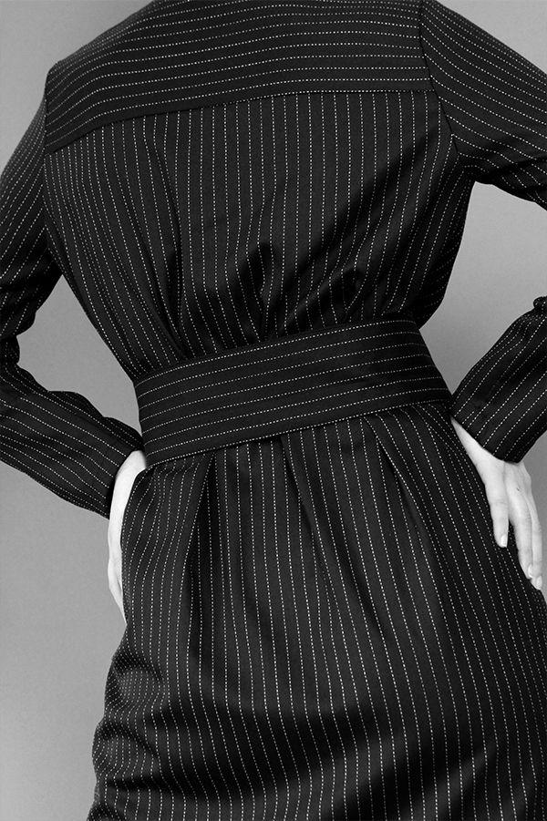 Pinsstripe Shirt Dress http://honeygold.eu/product/pinstripe-shirt-dress/