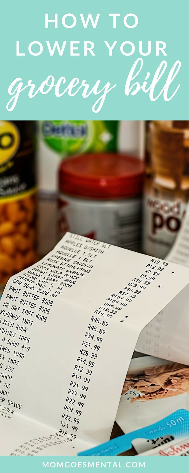 Lower your grocery budget with this EASY method! This article is loaded with tips to reduce your grocery spending. #budget #finance #savemoney via @momgoesmental