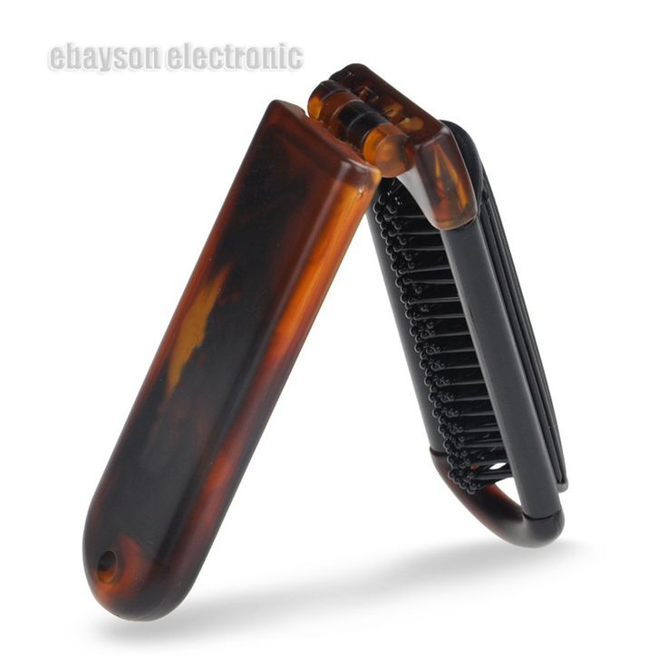 Pro Portable Foldable Hair Massage Brush Hairbrush Comb Mirror Travel