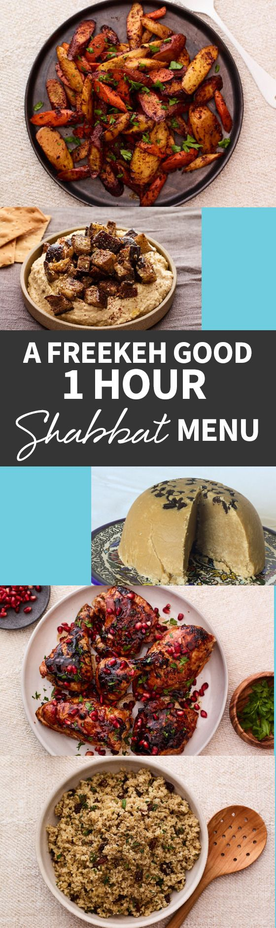This Freekeh Good 1 Hour Shabbat Menu can be prepared even if your crunched for time! Find out how when you follow this article full of amazing recipes! http://www.joyofkosher.com/2016/12/a-freekeh-good-1-hour-shabbat-menu/