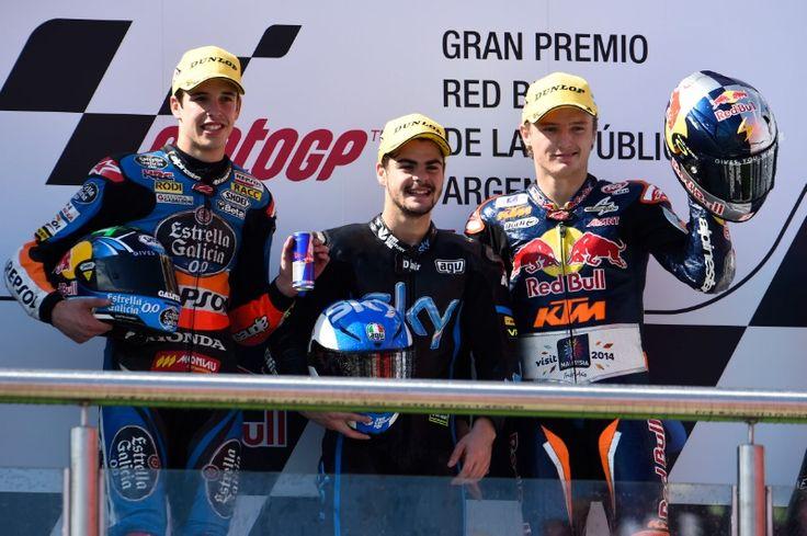 Alex Marquez, Fenati, Miller, Argentinian Moto3 Race 2014