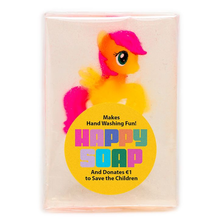 The more you wash the quicker you get the prize!! Genius. HAPPY SOAP - Pony £9.50