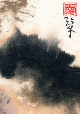 Sumi Cat: Chinese Landscape
