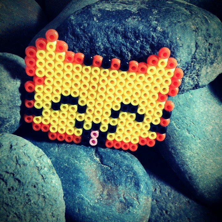 Hama beads! My first try, it's quite fun :)