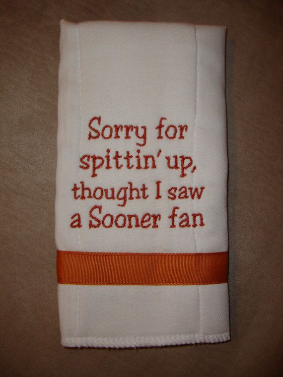 University of Texas Burp Cloth by CoughlinCrafts on Etsy, $12.00