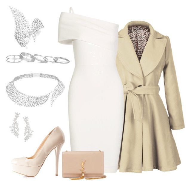 """White Angel"" by azarum on Polyvore featuring Michelle Mason, Qupid, Yves Saint Laurent, Messika, Kate Spade and Kendra Scott"