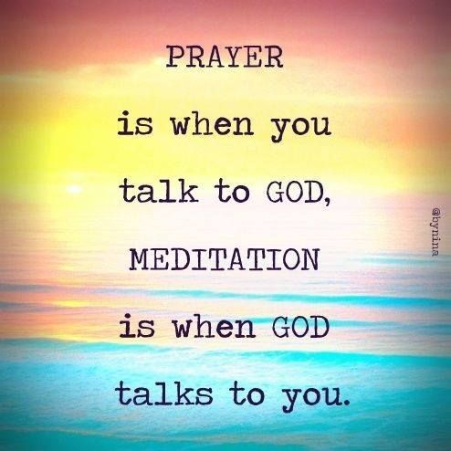 Quieting the mind through meditation allows  messages to be heard!