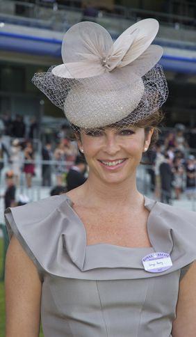 Suzi Perry at Royal Ascot wearing Jane Taylor Millinery hat