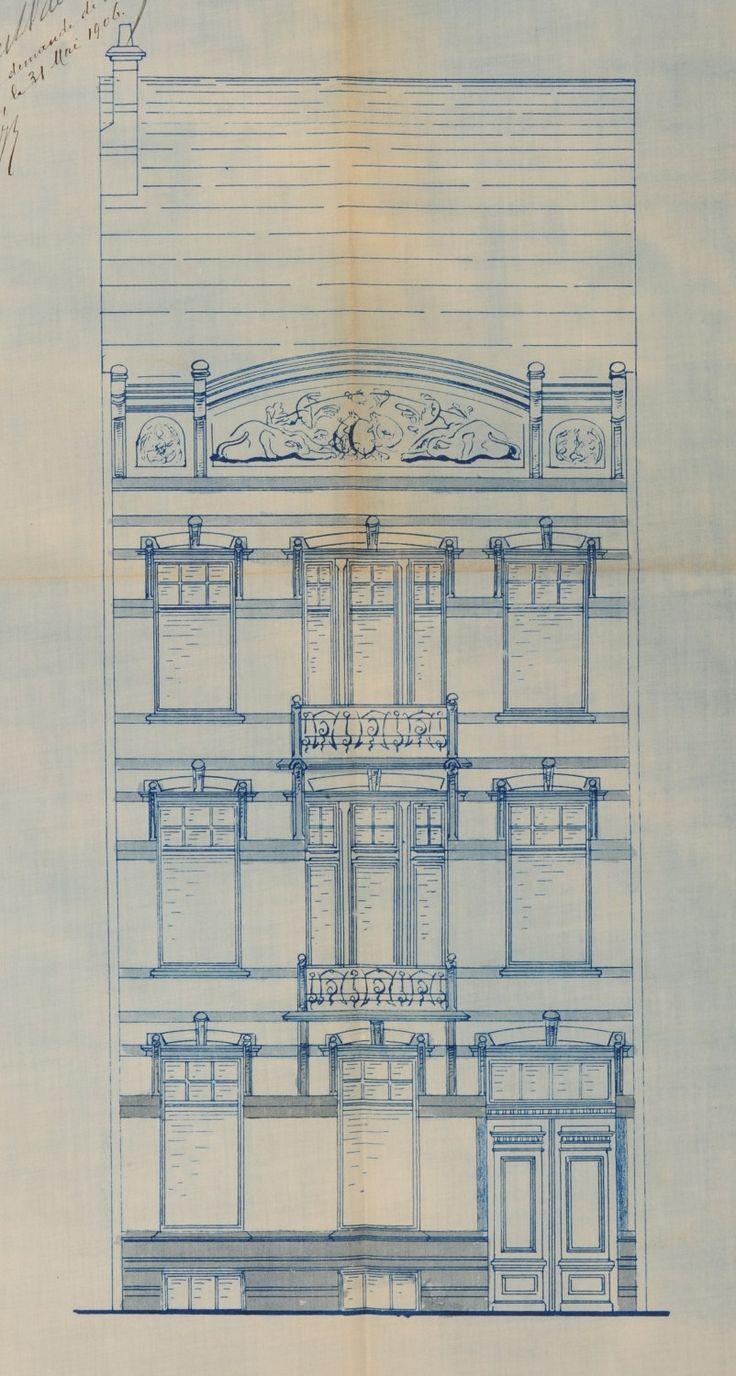 185 Best Drawing Fasades Art Nouveau Bruxelles Images On Pinterest