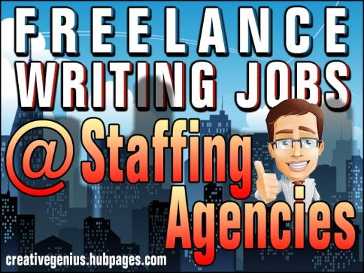 Staffing Agencies for freelance writers and copywriters