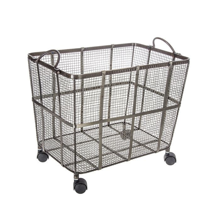 Metal Mesh Basket On Wheels Metal Laundry Basket Metal Mesh
