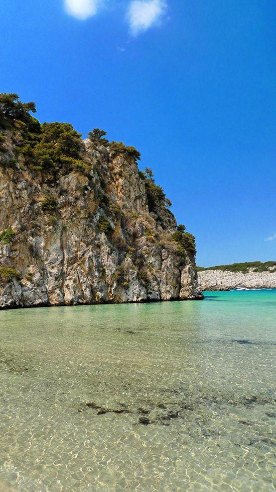 Voidokilia beach in Messinia, Peloponnese #Greece