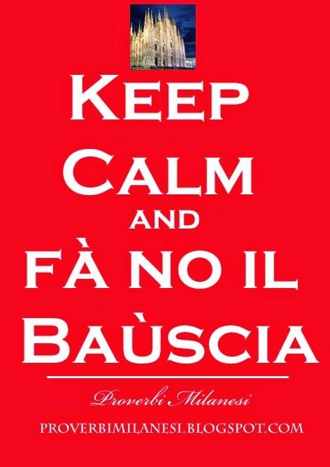 Keep Calm Baùscia