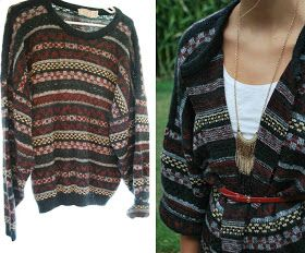 DIY - Sweater Cardigan