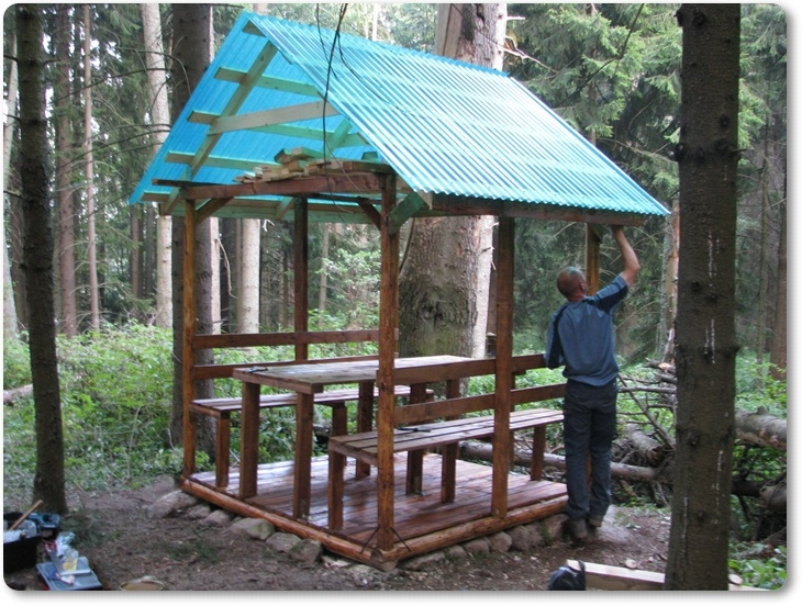 A tourist shelter in Transylvanian mountains, built from zero by our team #greatwalker