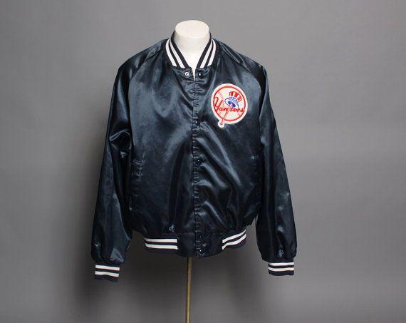 vintage 1980s NY YANKEES Baseball JACKET