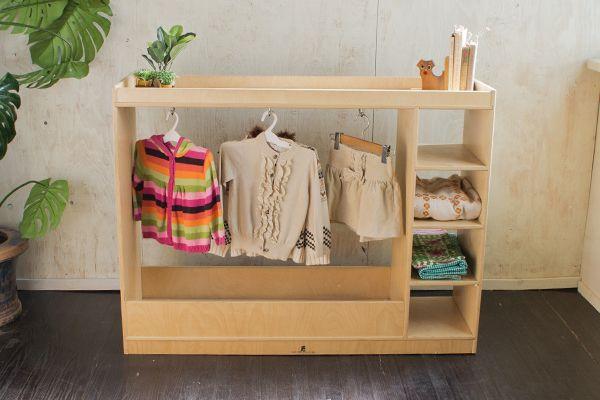 ●US●ハンガーラック 洋服棚 キッズシェルフ 子供服 収納 棚 木製 猫脚 ビンテージ [STEFFY WOOD PRODUCTS][1374]_イメージ。周囲の雑貨は付属しません。