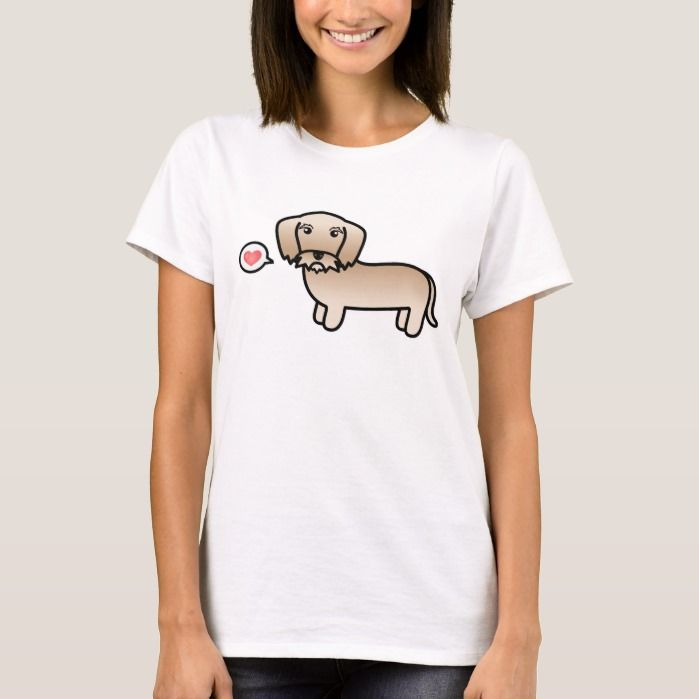 Dachshund Dog Breed Weenie T-shirt Cartoon Pet Tee
