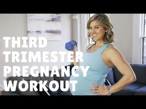 Third Trimester Prenatal Workout - Strength Training - YouTube