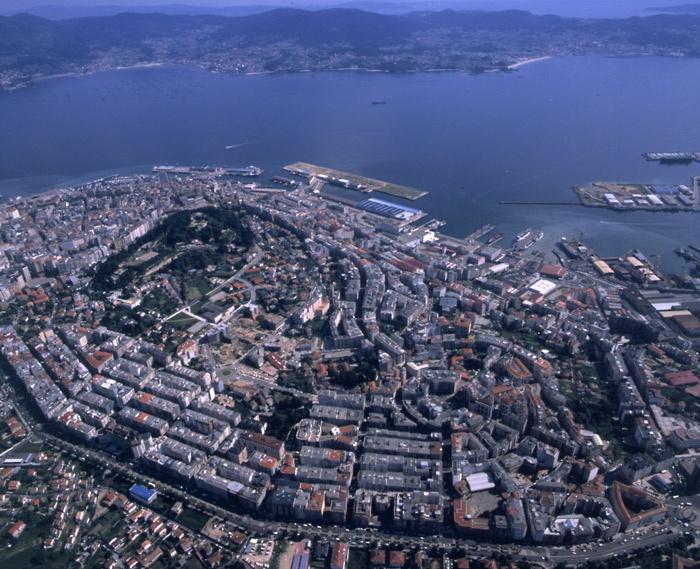 Vista aérea de Vigo. Galicia. España