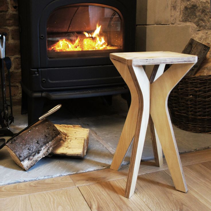 stool and occasional table - birch plywood furniture - flatpack - nomadic design studio - bespoke - handmade