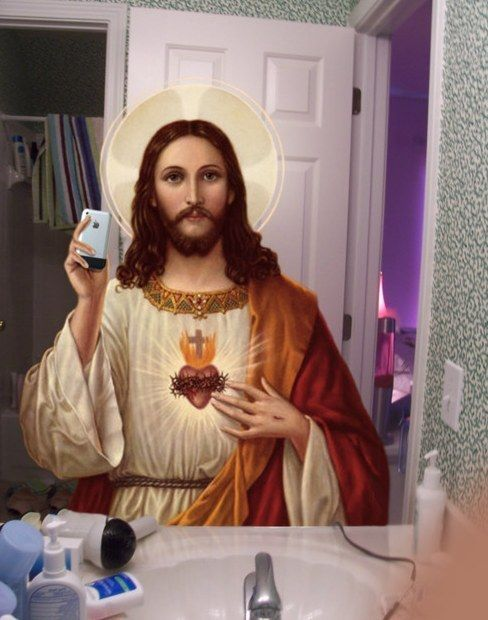 Jesus taking a selfie: | 25 Photos You Definitely Need To See Before You Die