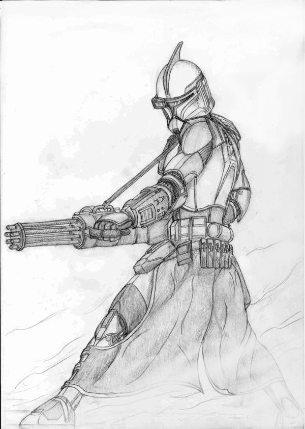 how to draw a star wars clone trooper