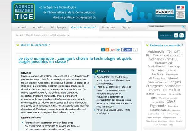 Que dit la recherche ? : Le stylo #numérique : comment choisir la technologie et quels usages possibles en classe ? @Usages_TICE
