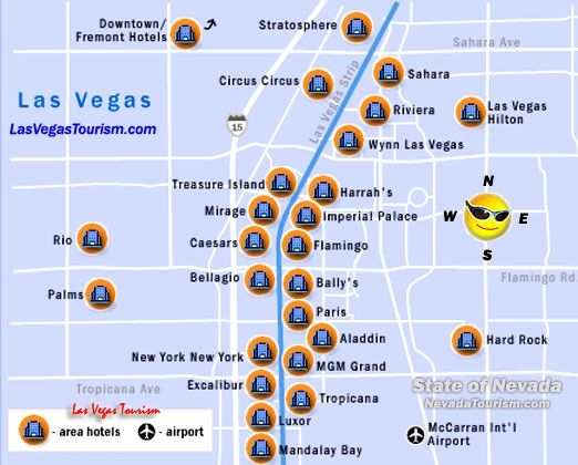 Map Of The Strip In Las Vegas Nevada MAP - Las vegas map nevada