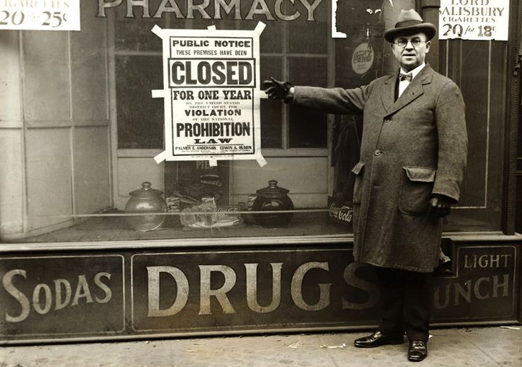Huge black-and-white posters printed in bold type serve as notice that a Chicago business had been closed by the federal courts for violations of the Volstead Act.This Is What America Looked Like When Alcohol Was Illegal