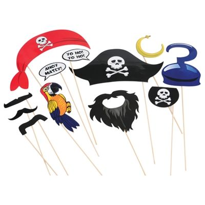 Pirate Photo Booth Props - discount toys and novelties.