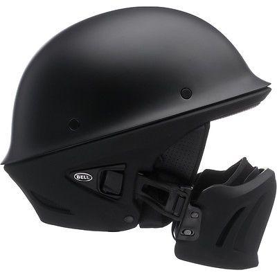 Bell Rogue Flat Matte Black Motorcycle Harley Chopper Bobber Half Helmet LG LRG