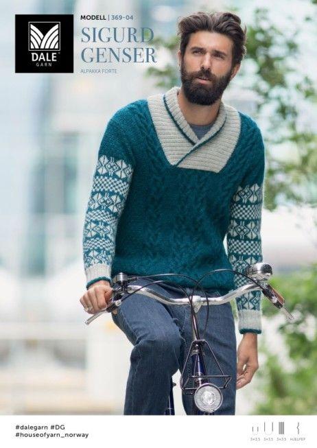f385c433 DG369-04 Sigurd genser – Dale Garn | knitted men | Men sweater ...