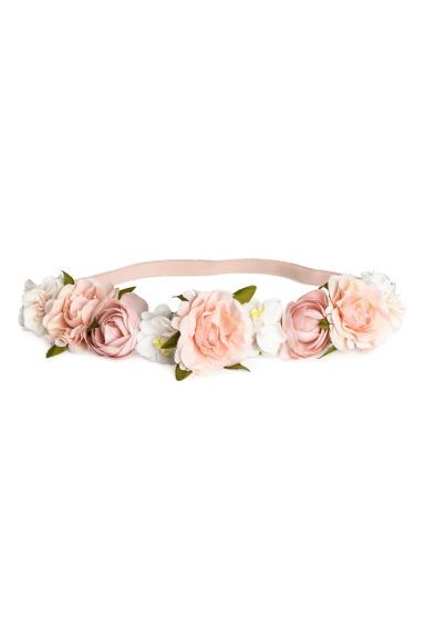 Hairband with flowers - Light pink - Ladies | H&M GB 1