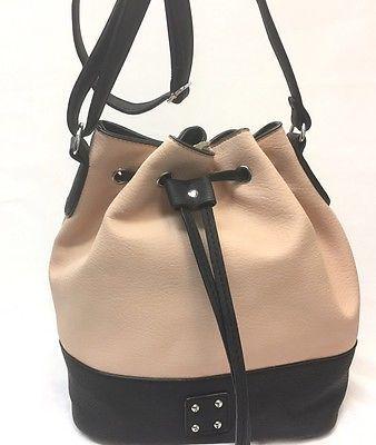 Maxime Two Tone  Bucket  Bag