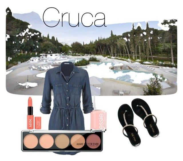 Pensando en vacaciones by cruca on Polyvore featuring polyvore, fashion, style, maurices, Miss KG, Essie, maquillaje, moda, estilo and Belleza