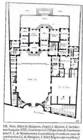 Jean De Courtonne Plan Rue De Varenne Hotel Matignon